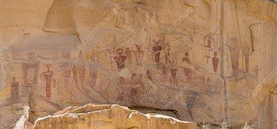 Sego Canyon ancient anthropomorphs, Utah, USA