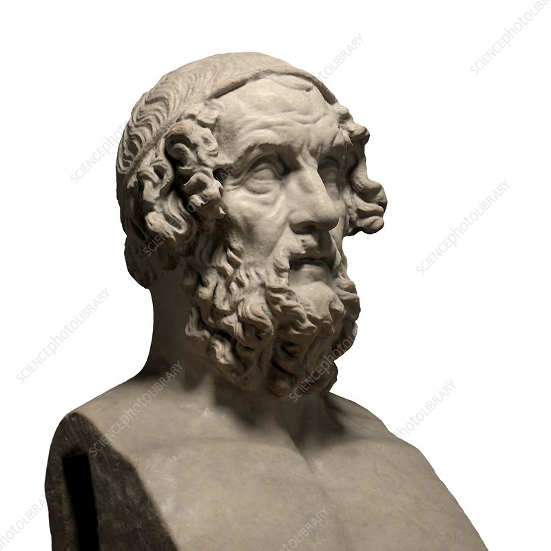 Statue of the poet Homer