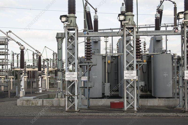 Supergrid transformer at substation