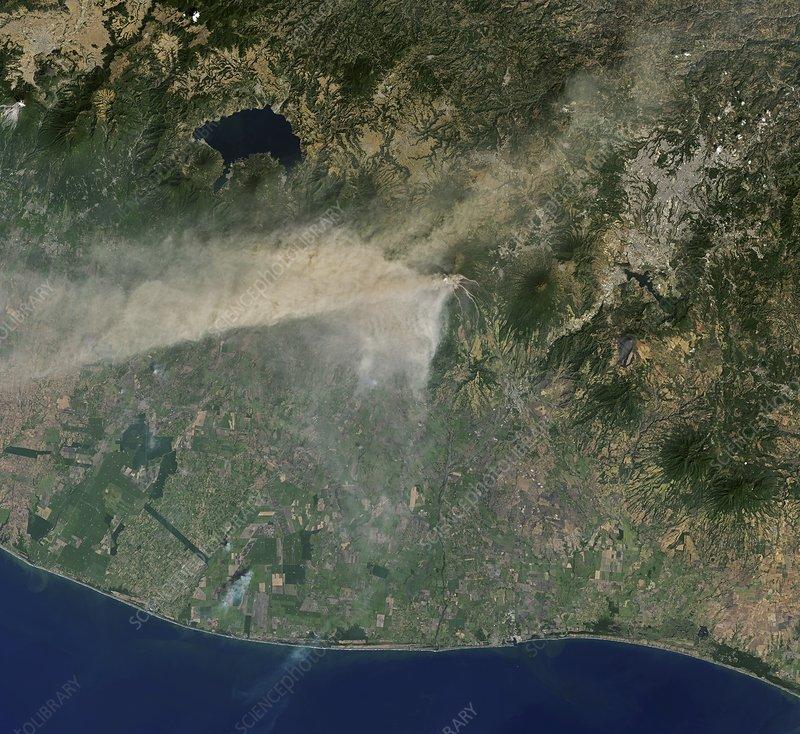 Eruption of Fuego volcano, Guatemala, February 2018