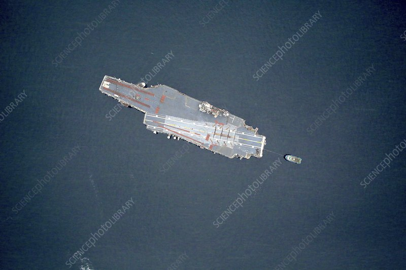 USS Constellation's final voyage, aerial photograph