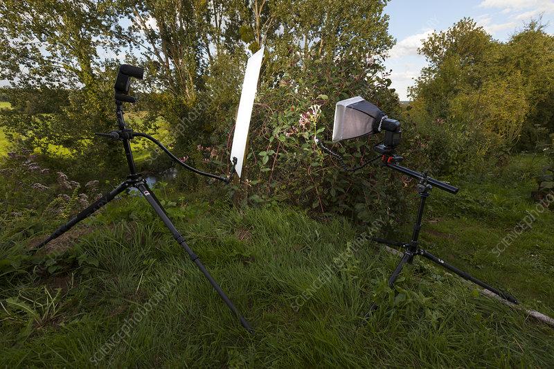 Outdoor studio setup for photography