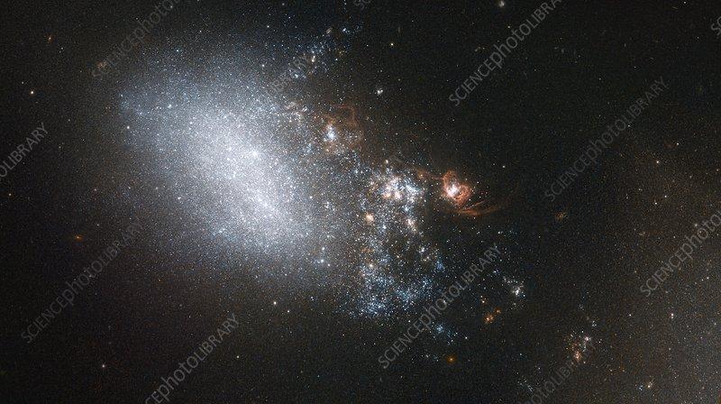 Irregular galaxy NGC 4485, HST image