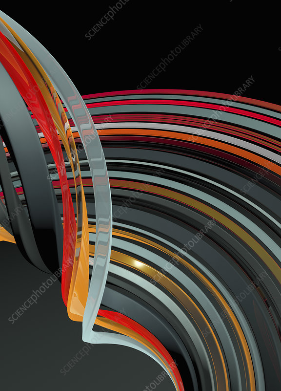 Abstract smooth bent stripes, illustration