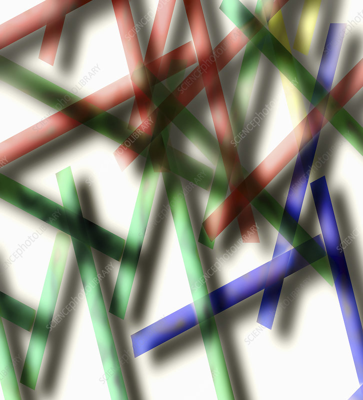 Abstract pattern of crisscrossing lines, illustration