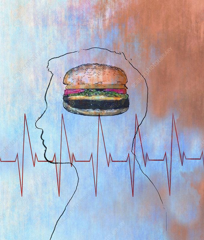 Junk food, illustration