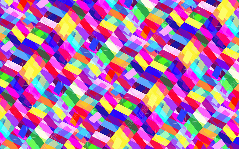 Abstract geometric pattern, illustration