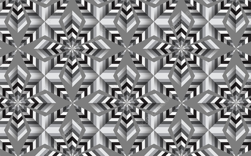 Abstract black and white mosaic tile pattern, illustration