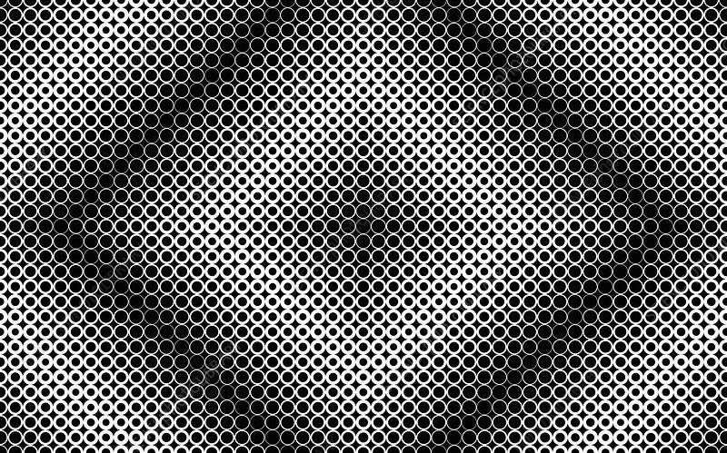 Monochrome abstract pattern, illustration