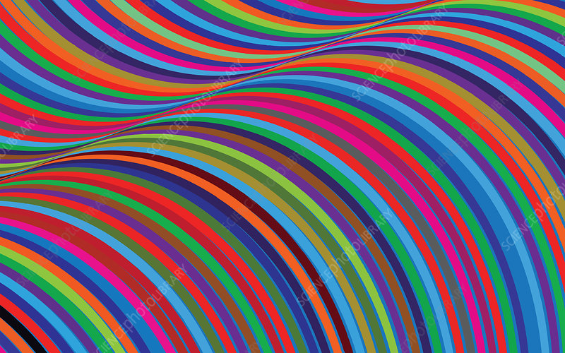 Abstract curved stripe pattern, illustration