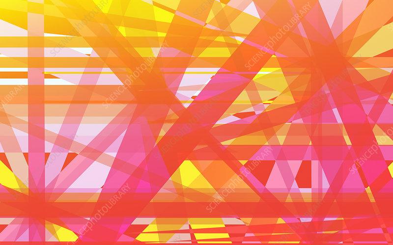 Crisscrossing striped abstract pattern, illustration