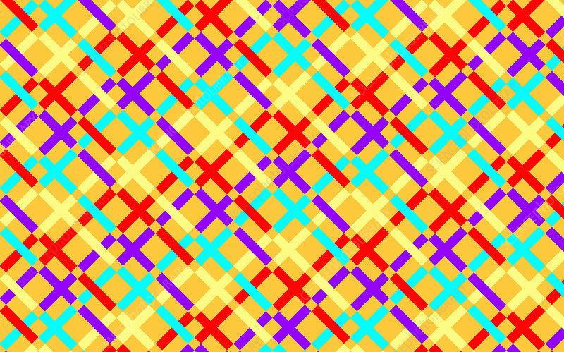 Abstract crisscrossing grid pattern, illustration