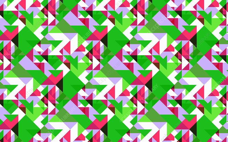 Abstract mosaic pattern, illustration