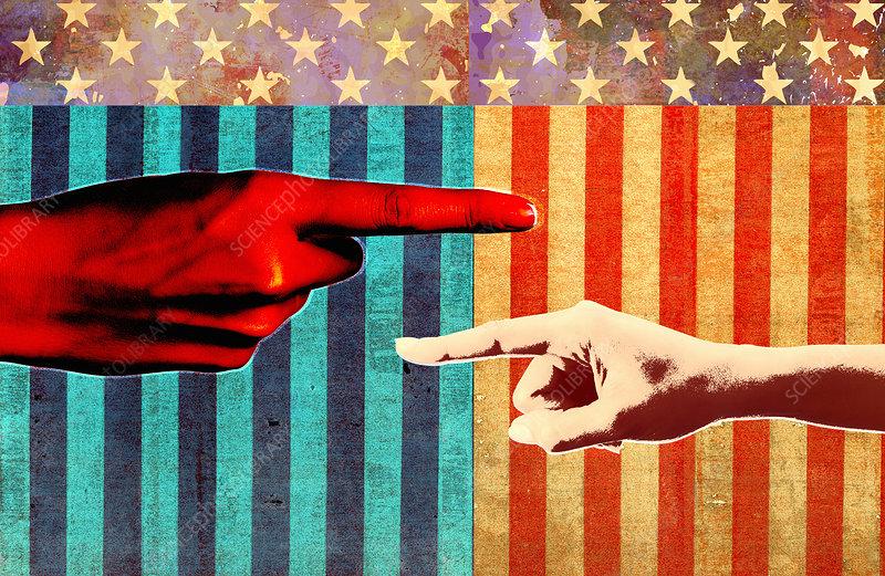 Conflict in United States politics, illustration