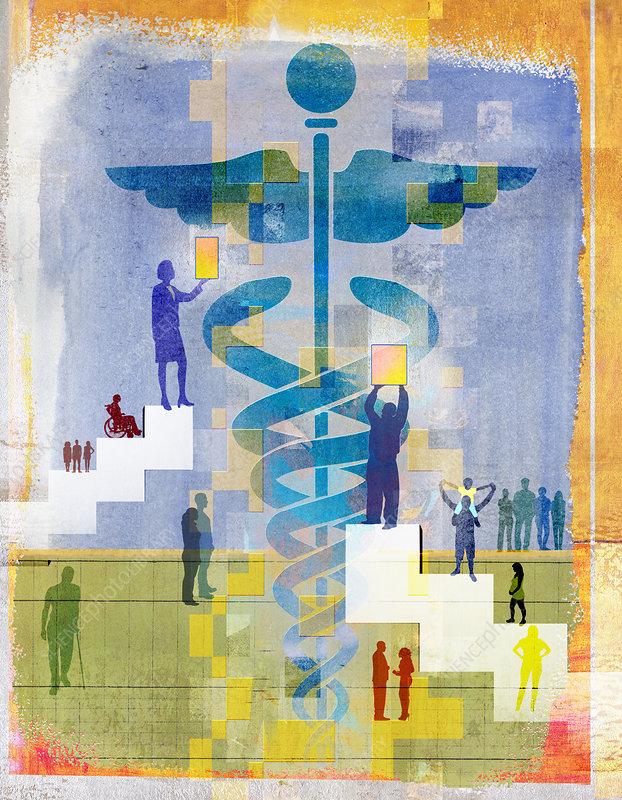 Healthcare and medicine, illustration