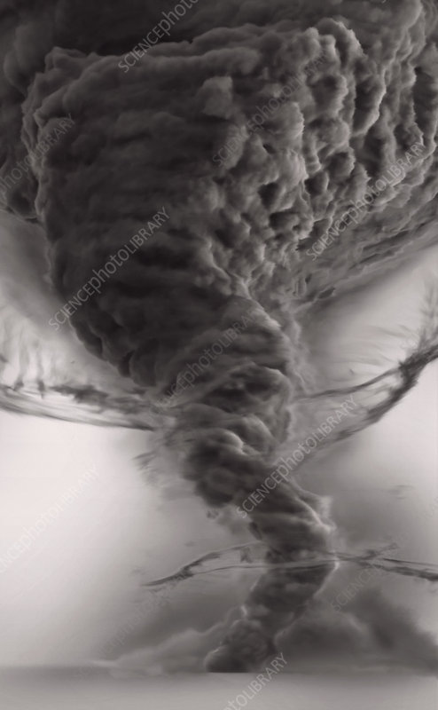 Tornado dust cloud, illustration