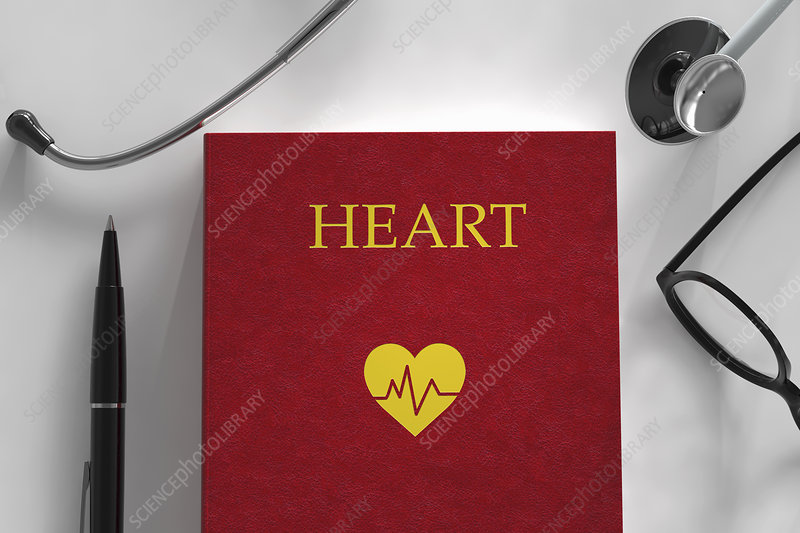 Medical book about the heart, illustration