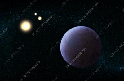 Gliese 667 exoplanet, illustration