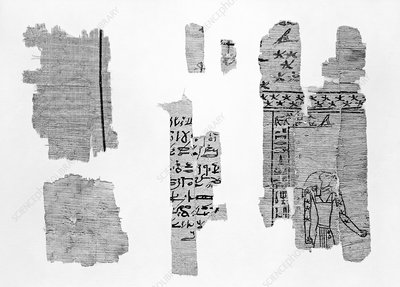 Egyptian papyrus representation of Saturn