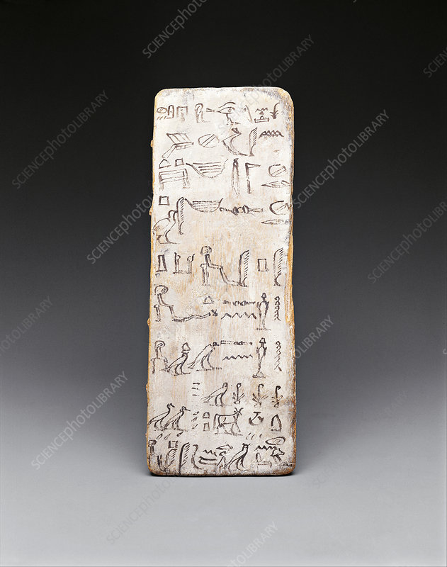 Egyptian writing board