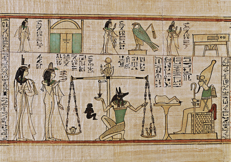 Weighing of the heart, Egyptian Book of the Dead