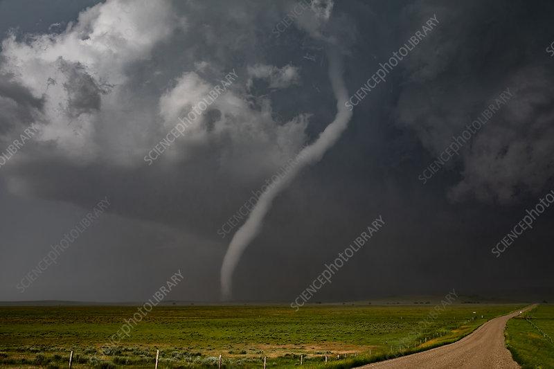Rope tornado, Montana, USA
