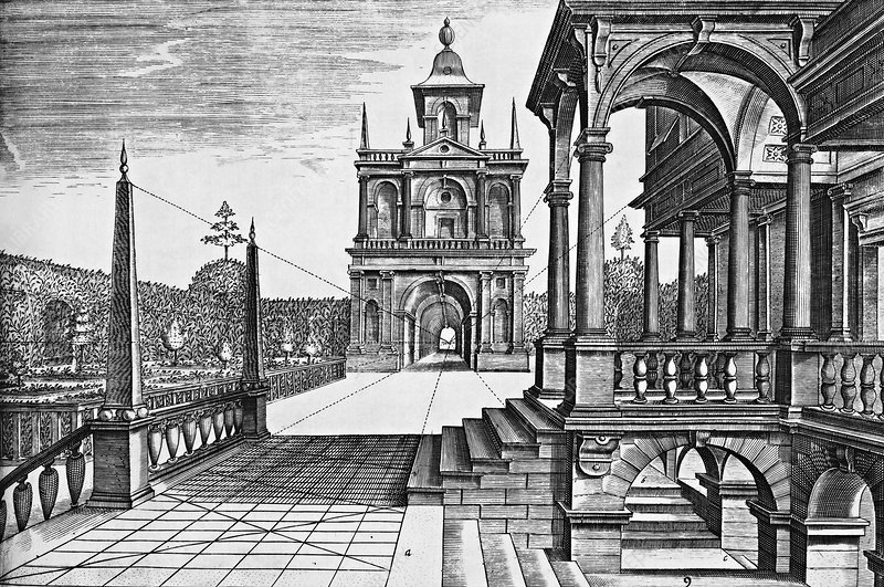 Architectural perspective, 17th century