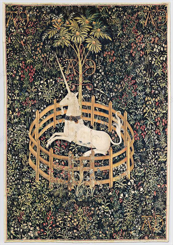 The Unicorn in Captivity, circa 1500
