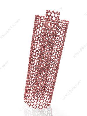 Coaxial carbon nanotube, illustration