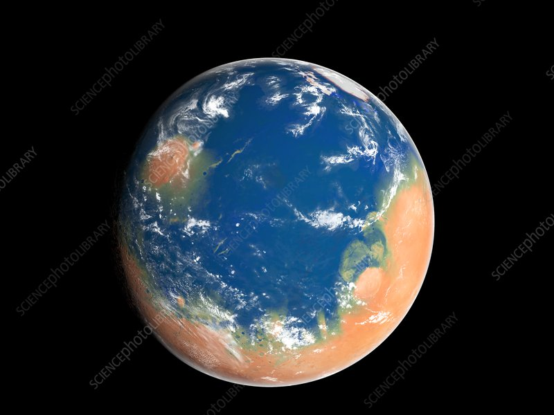 Water on Mars, conceptual image