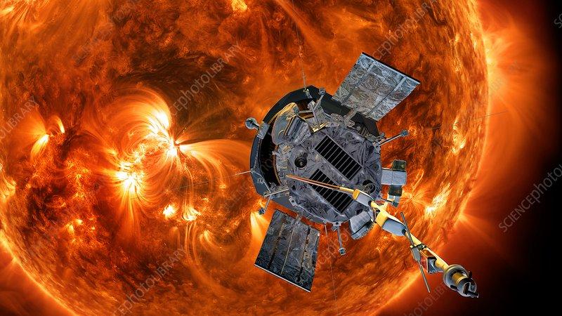 Parker Solar Probe at the Sun, illustration
