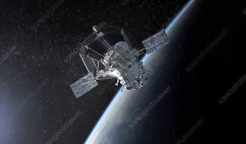 Parker Solar Probe leaving Earth, illustration