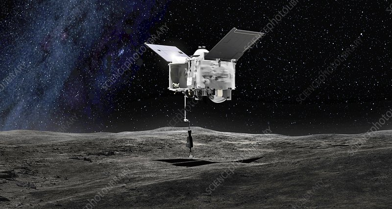OSIRIS-REx asteroid mission, illustration