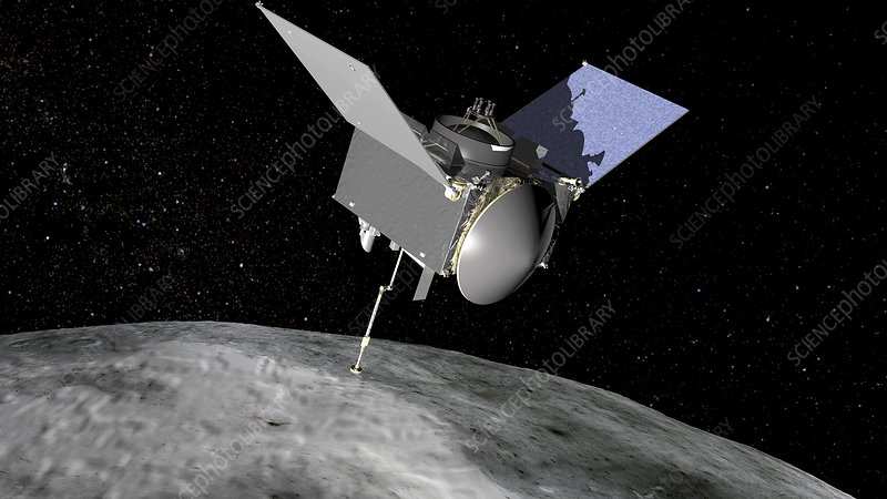 OSIRIS-REx asteroid mission, illustration