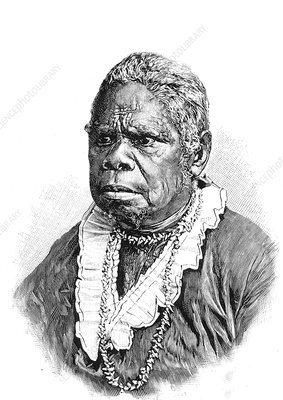 Truganini, the 'last Tasmanian woman', 19th C illustration