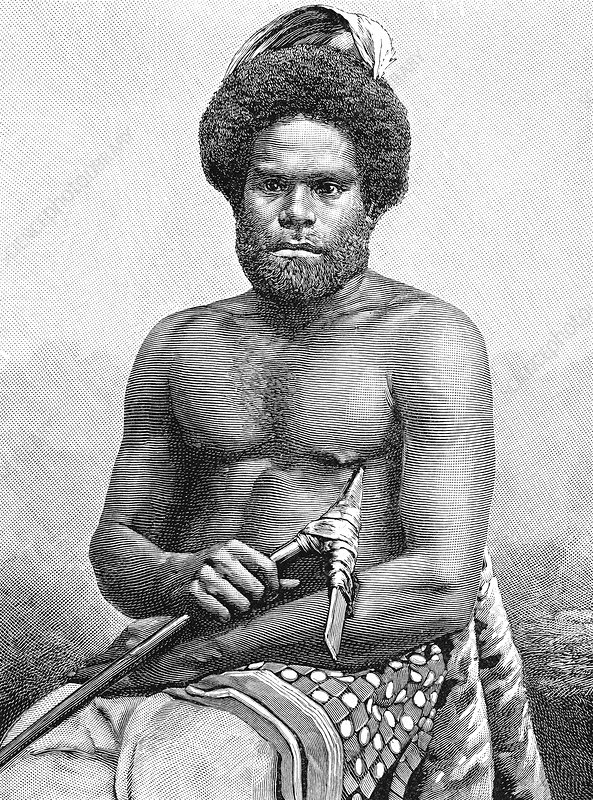 19th Century Loyalty Islands man, illustration
