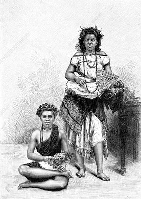 19th Century Samoan women, illustration