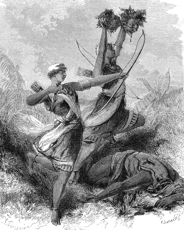 Dahomey Amazons, 19th Century illustration