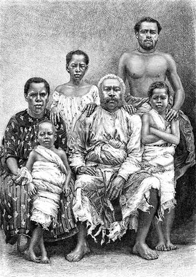 19th-century Fiji royal family, illustration
