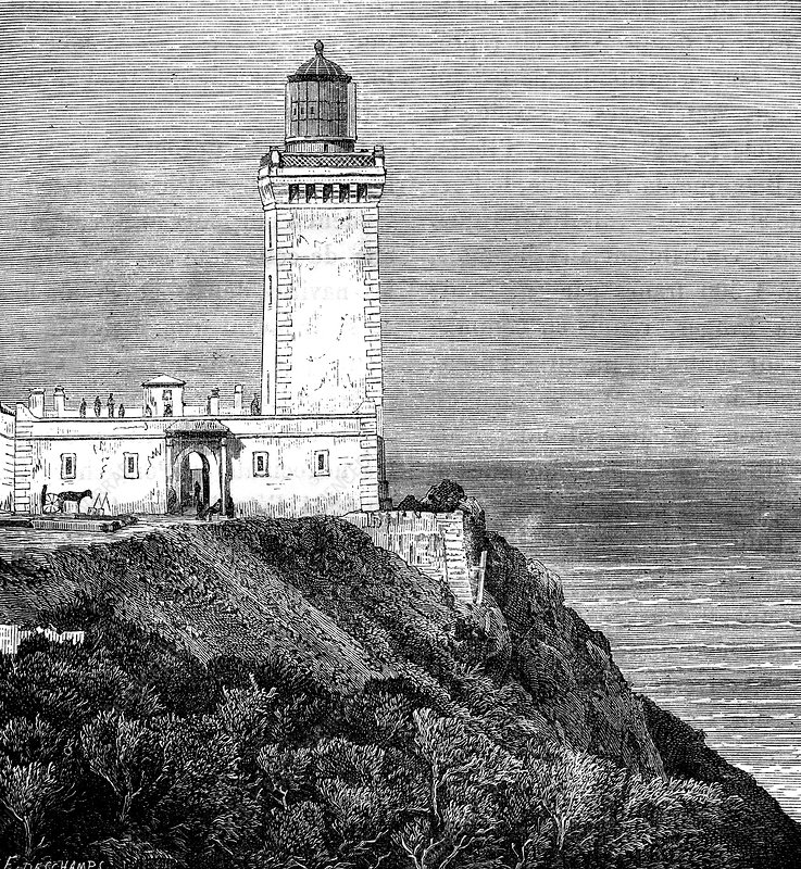Cape Spartel lighthouse, 19th Century illustration