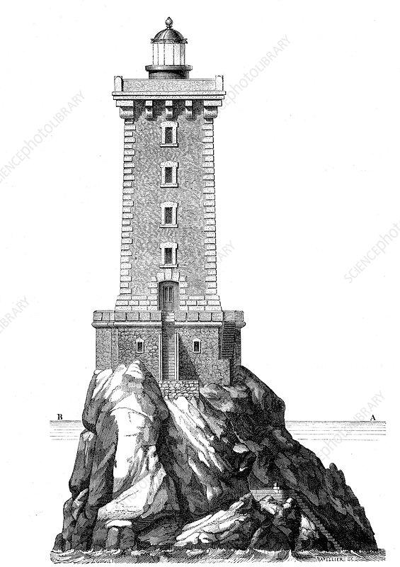 Triagoz lighthouse, France, 19th Century