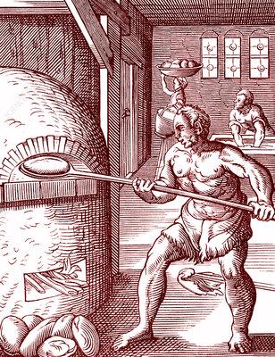 16th Century baker, illustration