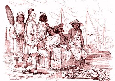 19th Century Chinese merchant, illustration