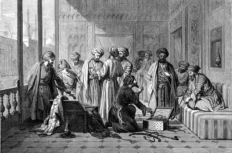 19th Century Iraqi merchants, illustration