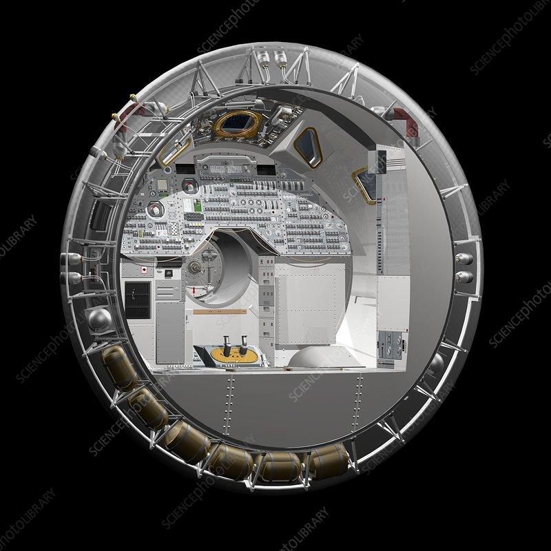Apollo Command Module spacecraft, illustration
