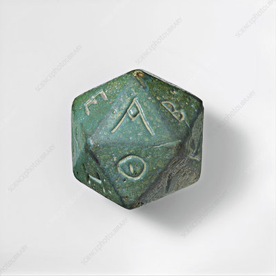 Greek-lettered oracular polyhedron, 2nd-3rd century