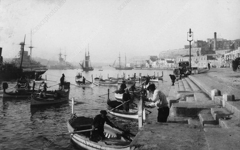 Grand Harbour, Malta, 1937