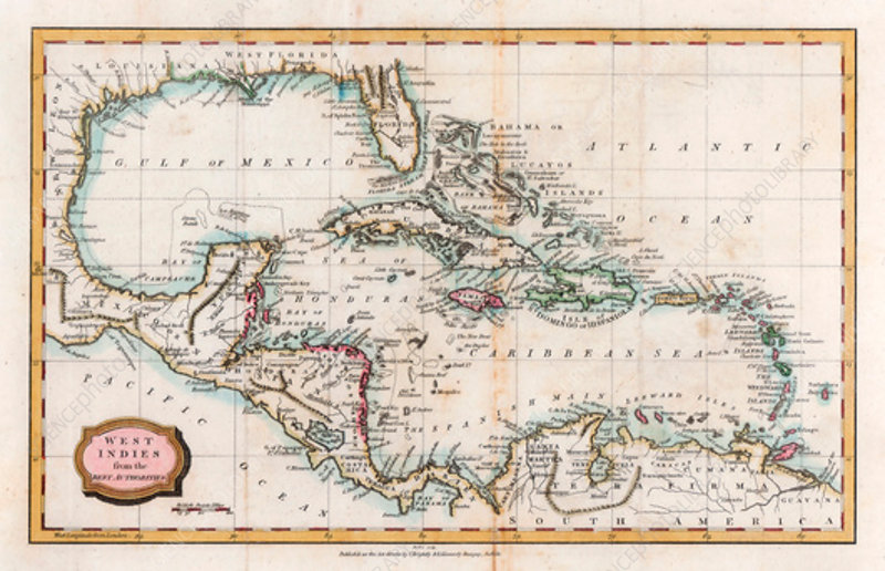 Map of the West Indies