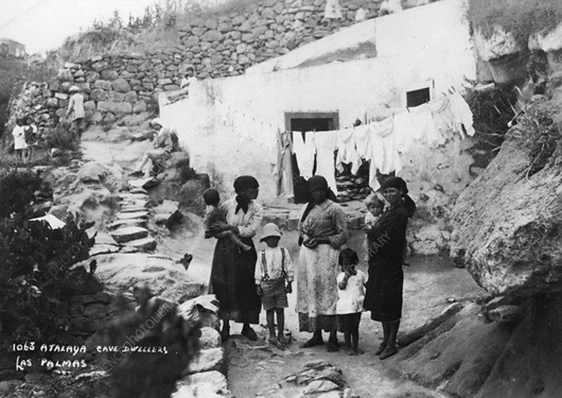 Cave dwellers, Atalaya, Las Palmas, Canary Islands