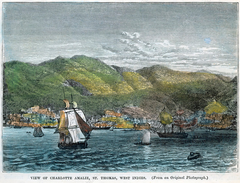 View of Charlotte Amalie, St Thomas, West Indies, c1880